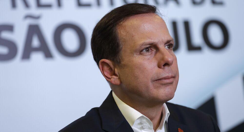 João Doria, governador do estado de São Paulo (imagem de arquivo)