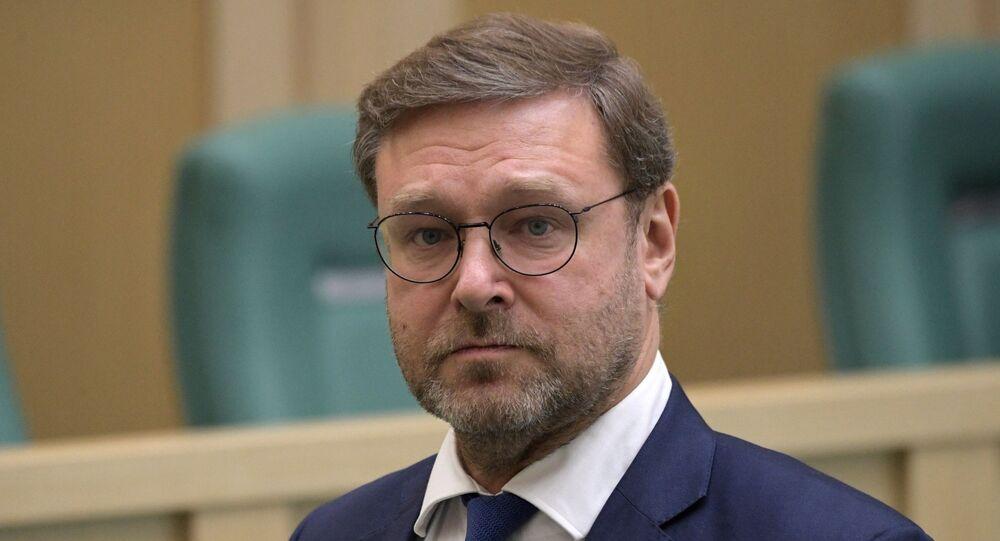 Presidente do Comitê de Relações Exteriores do Senado russo, Konstantin Kosachev
