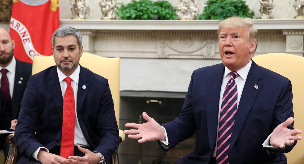 Presidente dos EUA, Donald Trump, receber o líder paraguaio Mario Abdo Benítez no Salão Oval