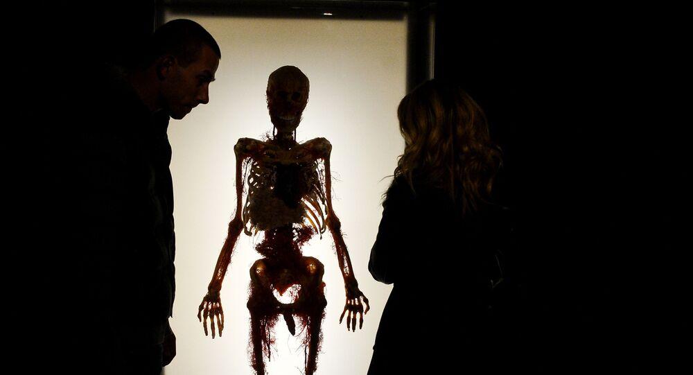 Visitantes da exposição Mistérios do Corpo. O Universo Interior