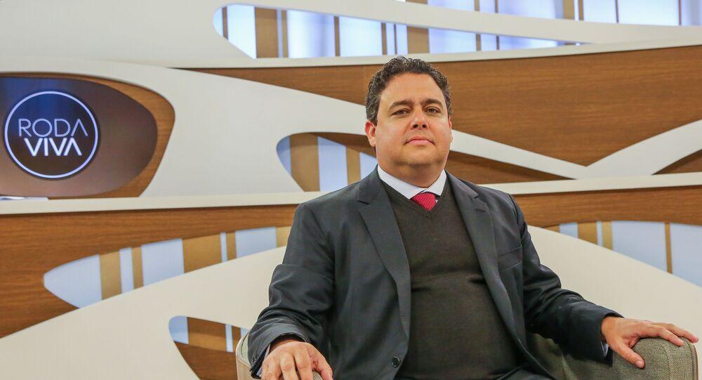 O presidente da Ordem dos Advogados do Brasil (OAB), Felipe Santa Cruz, participa do programa Roda Viva da TV Cultura.