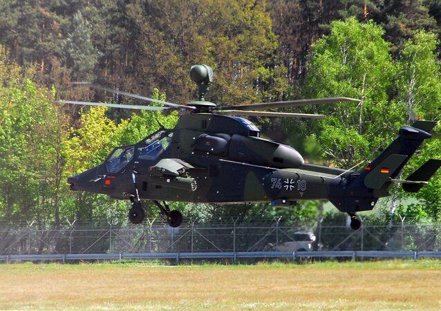 Helicóptero alemão Tiger (imagem referencial)