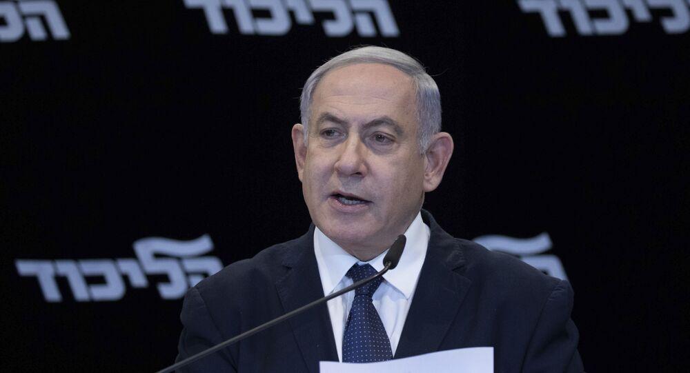 Primeiro ministro de Israel, Benjamin Netanyahu, anuncia que procurará obter imunidade de acusações de corrupção, em Jerusalém, no dia 1 de janeiro de 2020