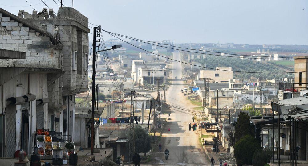 Cidade síria na província de Idlib, em dezembro de 2019