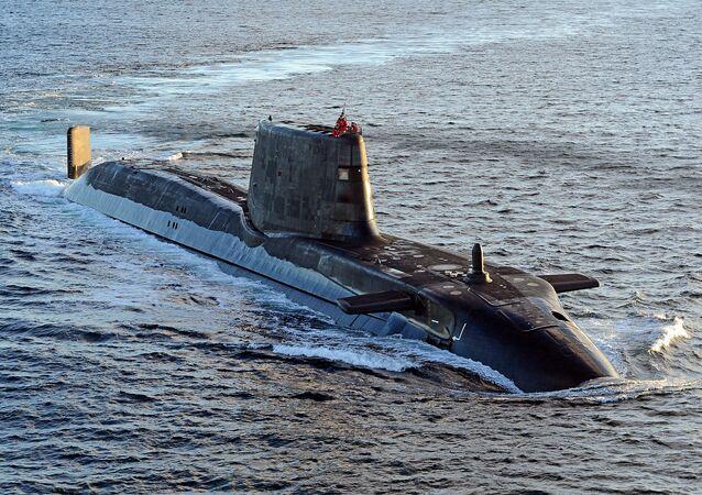 Submarino britânico HMS Ambush da classe Astute (foto de arquivo)