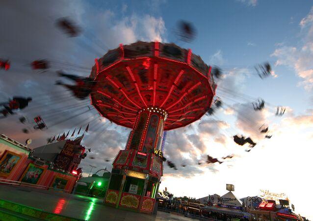 Parque de diversões em Munique, Alemanha