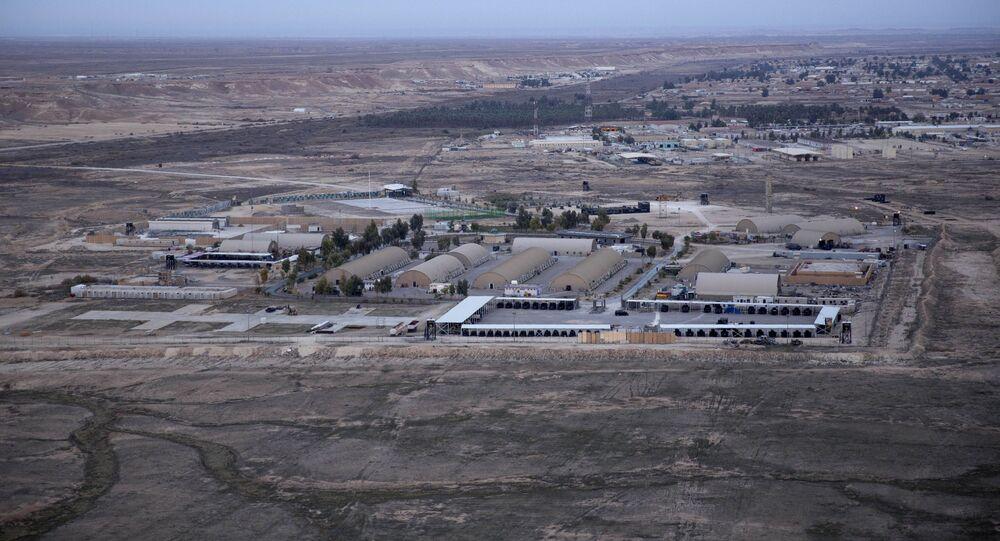 Foto aérea da base militar Ain Al-Asad, que abriga militares dos EUA no Iraque