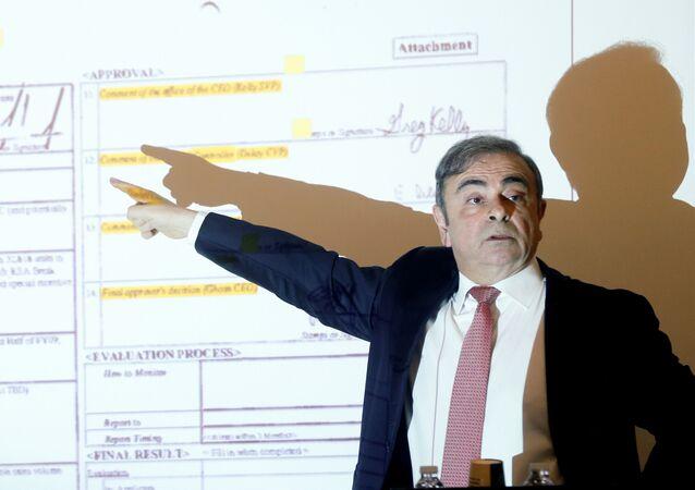 Empresário franco-brasileiro Carlos Ghosn fala sobre escândalo da Nissan em Beirute