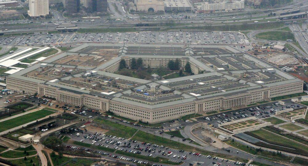 Vista do prédio do Pentágono, em Washington D.C, capital dos EUA
