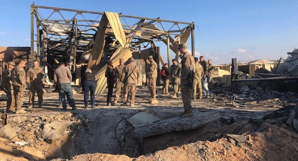 Consequências do bombardeamento iraniano à base militar Ain Al-Asad no Iraque, 13 de janeiro de 2020  (imagem referencial)