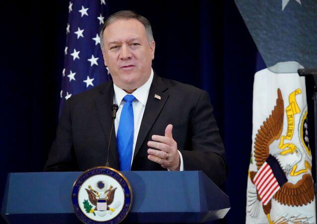 Secretário de Estado dos EUA, Mike Pompeo (foto de arquivo)