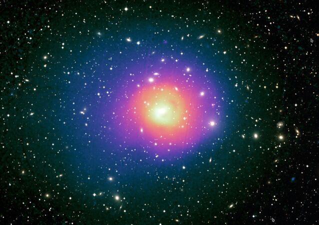 Imagem mostra o aglomerado de galáxias Perseu