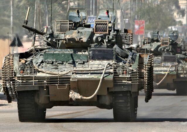 Tanques das Forças Armadas do Reino Unido, Iraque (foto de arquivo)