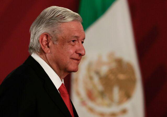 Andrés Manuel López Obrador, presidente do México, durante coletiva de imprensa no Palácio Nacional, na Cidade do México, em 27 de dezembro de 2019