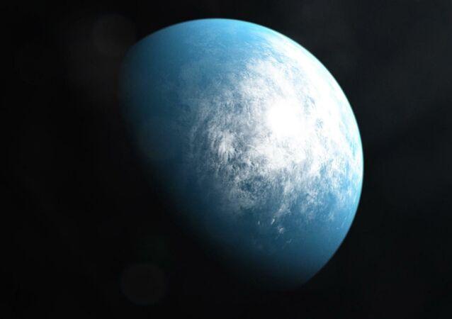 Representação gráfica do planeta TOI 700 d