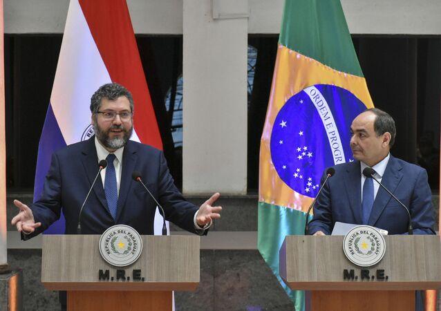 Visita de trabalho do Ministro das Relações Exteriores, Embaixador Ernesto Araujo, ao Paraguai.