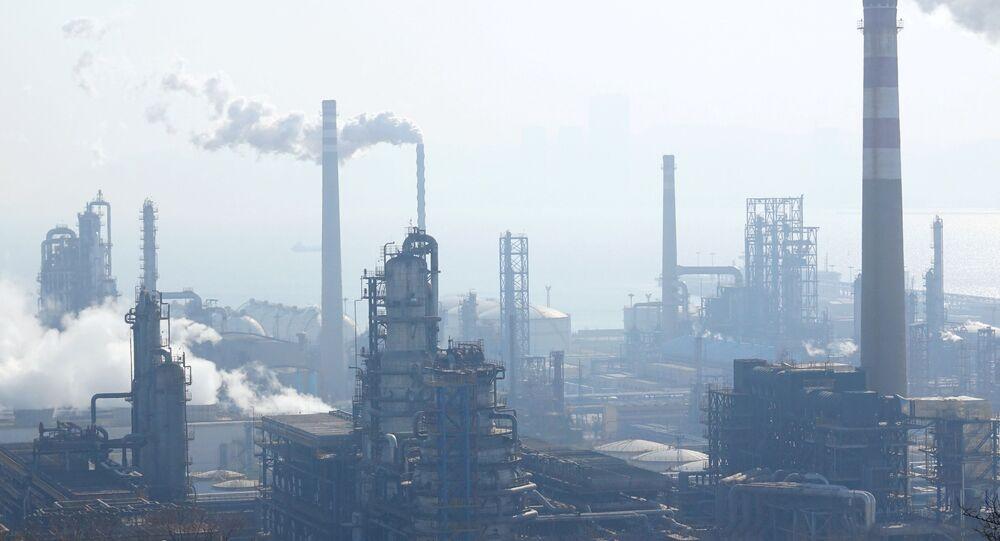 Refinaria da petroleira nacional chinesa CNPC, na cidade de Dalian, na província de Liaoning, China, em 22 de janeiro de 2020