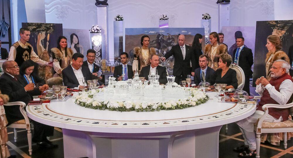 Presidenta Dilma Rousseff durante encontro com os demais líderes dos BRICS em Ufá, na Rússia