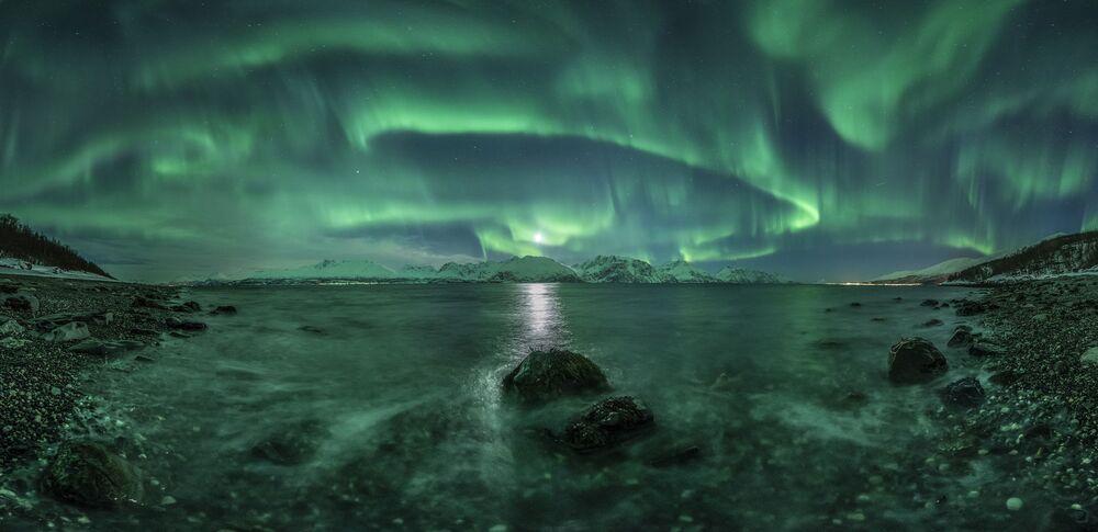 A foto de Jan R. Olsen Aurora Panorama 3.