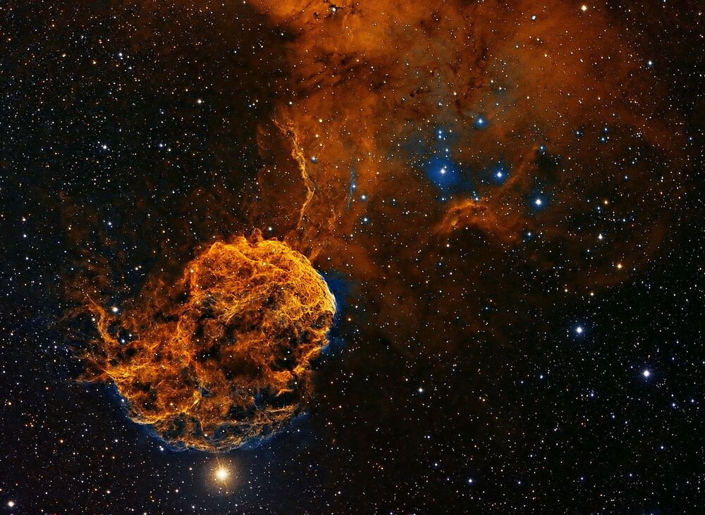 A foto de Patrick Gilliland IC443 supernova galática.