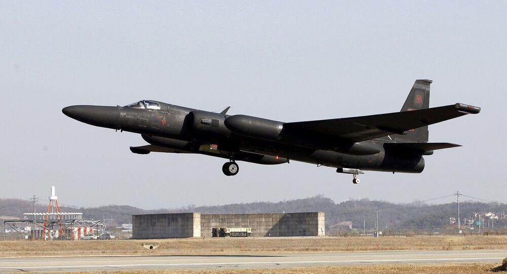 Aeronave U-2 dos EUA decloando da base de Osan na Coreia do Sul (foto de arquivo)