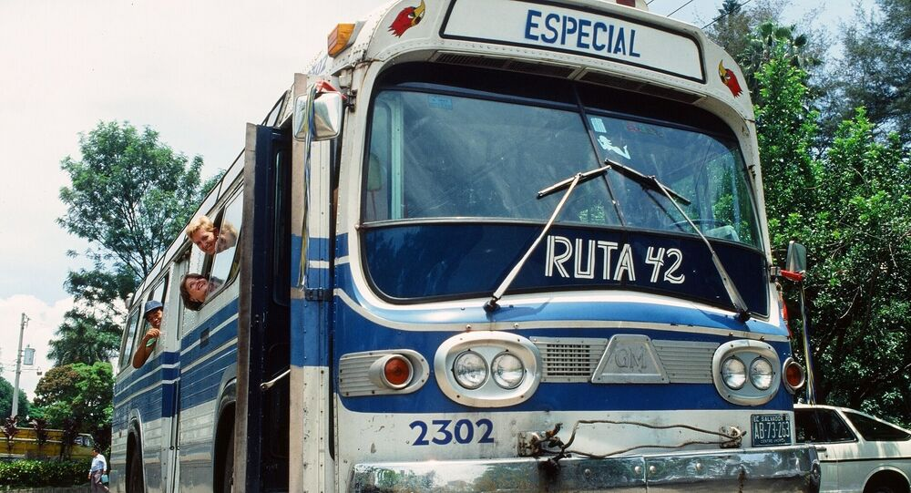 Ônibus em El Salvador (imagem referencial)