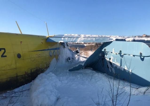 Avião Antonov An-2 cai em Magadan 19-02-2020