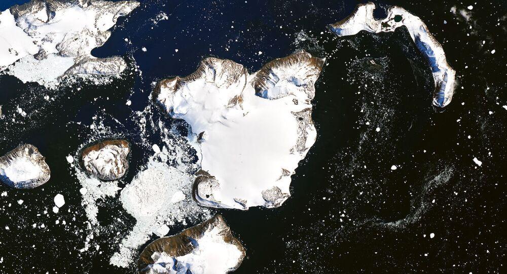 Foto de satélite da NASA mostra cobertura de gelo na Antártica em 4 de fevereiro de 2020 (foto de arquivo)