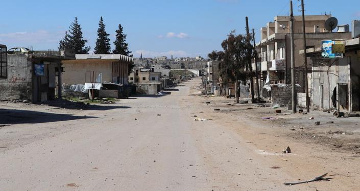 A cidade síria de Saraqeb.