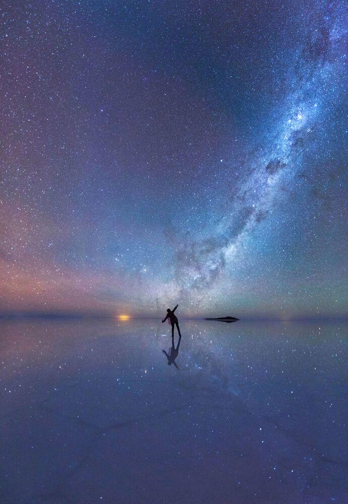 A foto de Xiaohua Zhao Céu nocturno espelhado.