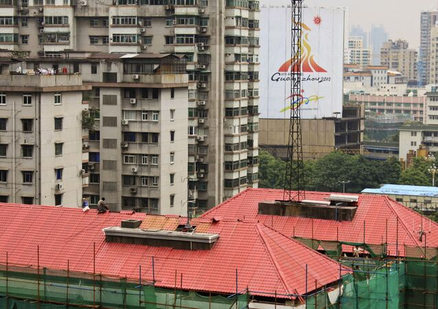 Vista aérea da cidade de Guangzhou, na China (foto de arquivo).