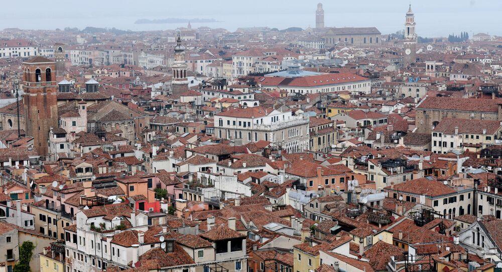 Vista de Veneza a partir do Campanário de São Marcos