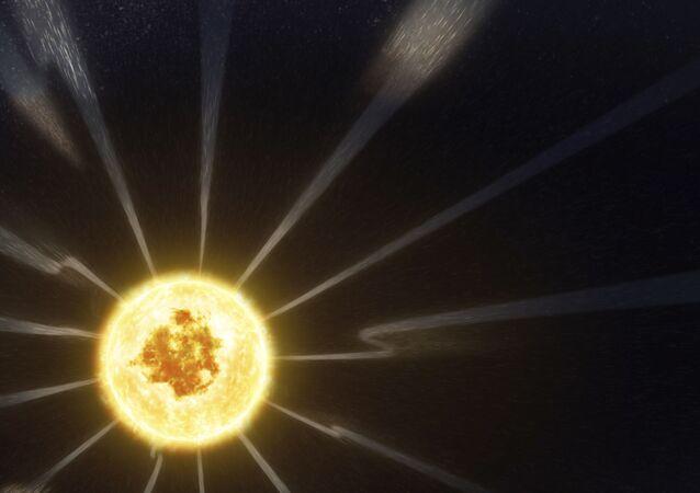 Campo magnético do Sol