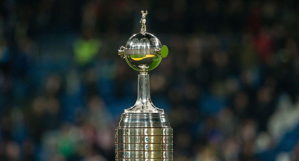 Troféu da Copa Libertadores.