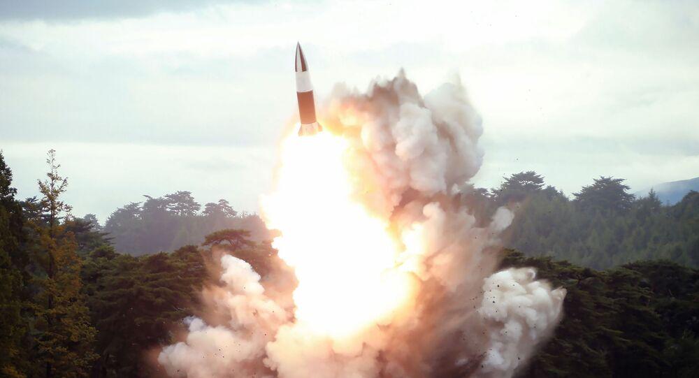 Lançamento de míssil da Coreia do Norte (imagem referencial)
