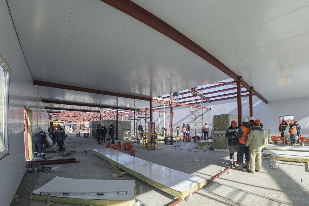 Construção do novo complexo hospitalar de infectologia no distrito Troitsky-Novomoskovsky de Moscou