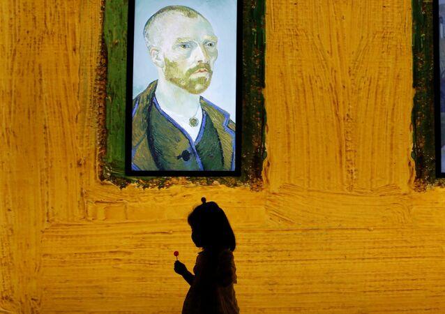 Quadro com o rosto de Vincent van Gogh (imagem referencial)