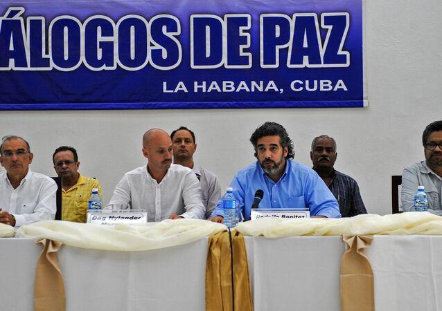 Negociações de paz entre o governo colombiano e as FARC realizadas em Havana.