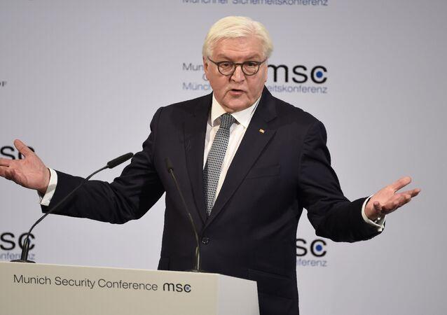 Presidente da Alemanha, Frank-Walter Steinmeier, durante evento em Munique