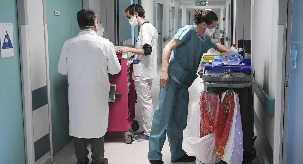 Hospital na França durante propagação da COVID-19 no país (foto de arquivo)