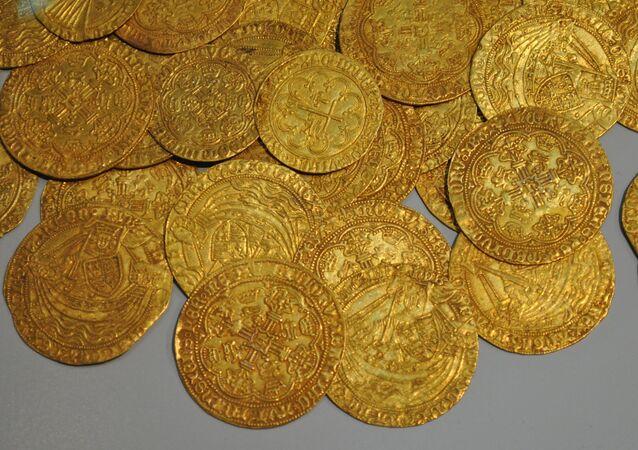 Moedas de ouro (imagem referencial)