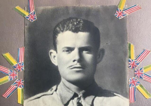Pracinha Oswaldo Lellis, pouco antes de ser enviado à campanha da Itália, durante a Segunda Guerra Mundial