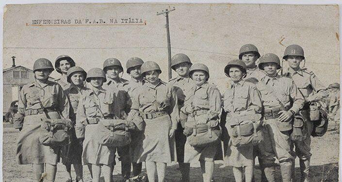 Grupo de enfermeiras brasileiras na 2ª Guerra Mundial.
