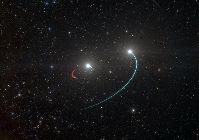 Ilustração do buraco negro