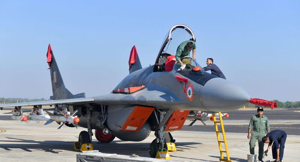 MiG-29 da Força Aérea da Índia (foto de arquivo)