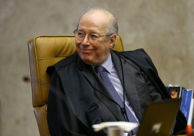O ministro Celso de Mello, do Supremo Tribunal Federal (STF), durante sessão da Corte.