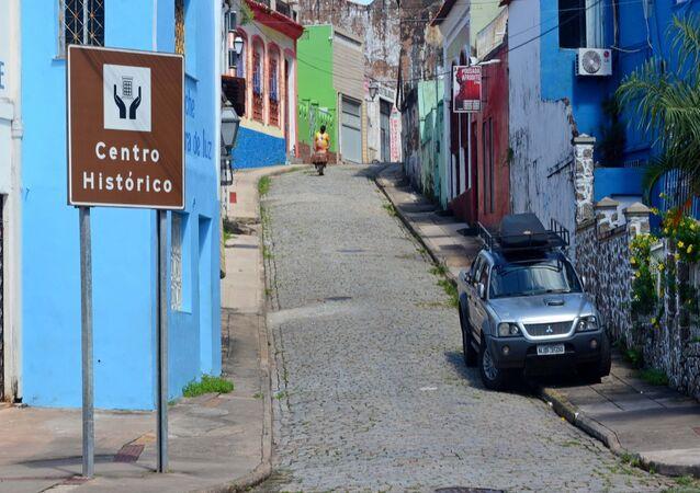 Centro histórico de São Luís, no Maranhão, vazio devido ao lockdown decretado em função do coronavírus