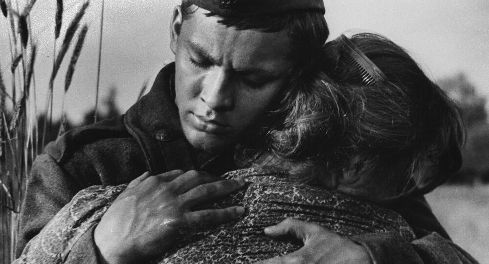Cena do filme A Balada do Soldado, dirigido por Grigory Chukhray