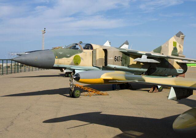 Caça líbio MiG-23MS (imagem de arquivo)