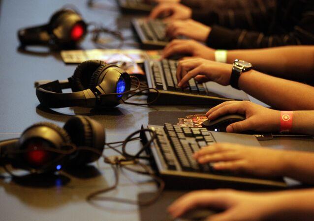Jogadores durante encontro de gamers em Colônia, na Alemanha, em agosto de 2010